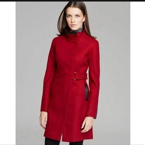 Red wool blend coat - Via Spiga